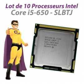 Lot 10x Processeurs CPU Intel Core I5-650 SLBTJ Dual Core 3.2Ghz Socket LGA1156