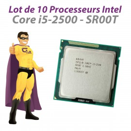 Lot x10 Processeurs CPU Intel Core i5-2500 3.3Ghz 6Mo SR00T 5GT/s LGA1155