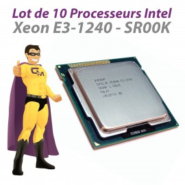 Lot x10 Processeurs CPU Intel Xeon E3-1240 3.30Ghz SR00K LGA1155 Quad Core 8Mo