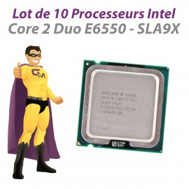Lot x10 Processeurs CPU Intel Core 2 Duo E6550 SLA9X 2.33Ghz 4Mo 1333Mhz LGA775