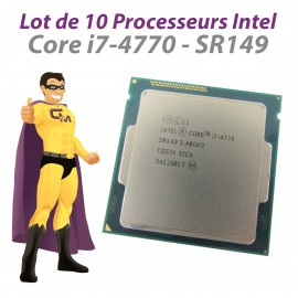 Lot x10 Processeurs CPU Intel Core I7-4770 3.4Ghz 8Mo SR149 FCLGA1150 Quad Core