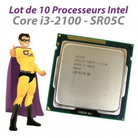 Lot x10 Processeurs CPU Intel Core I3-2100 3.1Ghz 3Mo SR05C FCLGA1155 Dual Core