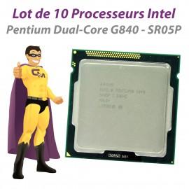 Lot x10 Processeurs CPU Intel Pentium G840 2.8Ghz 3Mo SR05P FCLGA1155 Dual Core