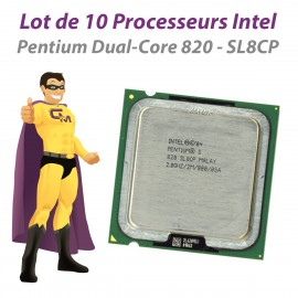Lot x10 Processeurs CPU Intel Pentium Dual Core 820 2.8Ghz SL8CP 800Mhz LGA775
