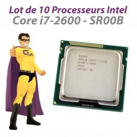 Lot x10 Processeurs CPU Intel Core I7-2600 3.4Ghz 8Mo SR00B LGA1155 Quad Core