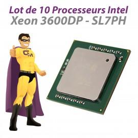Lot x10 Processeurs CPU Intel Xeon 3600DP SL7PH 3.6Ghz 1Mb 800Mhz Socket 604