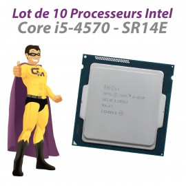 Lot x10 Processeurs CPU Intel Core i5-4570 SR14E 3.20Ghz 6Mo FCLGA1150 Quad Core