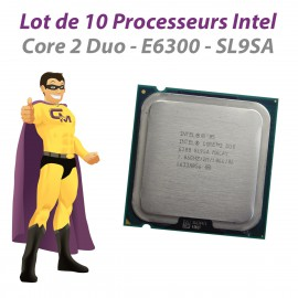 Lot x10 Processeurs CPU Intel Core 2 Duo E6300 SL9SA 1.86Ghz 2Mo 1066Mhz LGA775
