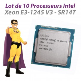 Lot x10 Processeurs CPU Intel Xeon E3-1245 V3 SR14T 3.40Ghz LGA1150 Quad Core