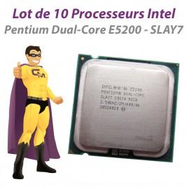 Lot x10 Processeurs CPU Intel Pentium Dual Core E5200 SLAY7 2.5Ghz 800Mhz LGA775