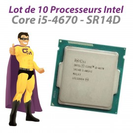 Lot x10 Processeurs CPU Intel 4 Core i5-4670 SR14D 3.40Ghz FC-LGA1150 6Mo 5GT/s