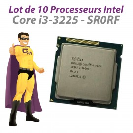 Lot x10 Processeurs CPU Intel Core i3-3225 SR0RF 3.3Ghz 3Mo LGA1155 Dual Core
