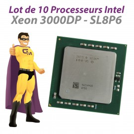 Lot x10 Processeurs CPU Intel Xeon 3000DP SL8P6 3.0Ghz 1Mb 800Mhz Socket 604