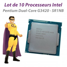 Lot x10 Processeurs CPU Intel Pentium G3420 3.2Ghz SR1NB 3Mo FCLGA1150 Dual Core