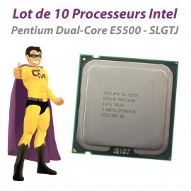 Lot x10 Processeurs CPU Intel Pentium Dual Core E5500 SLGTJ 2.8Ghz 800Mhz LGA775