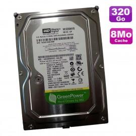"Disque Dur 320Go SATA 3.5"" Western Digital GreenPower WD3200AVVS-62L2B0 7200 8Mo"