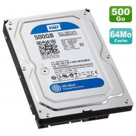 """Disque Dur 500Go SATA 3.5"""" Western Digital Blue WD5000AZLX-21K2TA0 7200RPM 32Mo"""