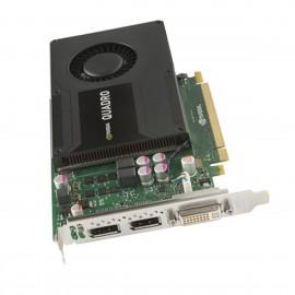 Carte NVIDIA Quadro K2000 700103-001 713380-001 Dual DisplayPort DVI-I GDDR5 2Go