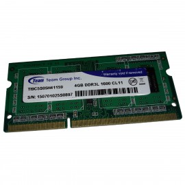4Go RAM Team Group TI9C5S05H41159 SODIMM DDR3 PC3L-12800S 1600Mhz 1.35v CL11