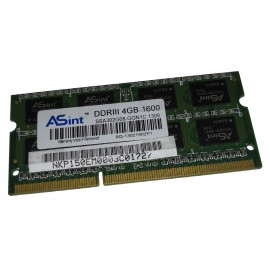 4Go RAM ASint SSA302G08-GGN1C SODIMM DDR3 PC3L-12800S 1600Mhz