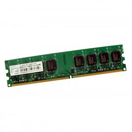 1Go RAM Transcend TS128MLQ64V6J DDR2 PC2-5300U 240-Pin 667Mhz 2Rx8 1.8v CL5