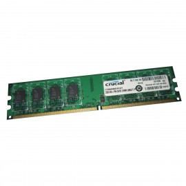 2Go RAM Crucial CT25664AA800.M16FH DDR2 PC2-6400U 800Mhz DIMM 240-Pin CL6