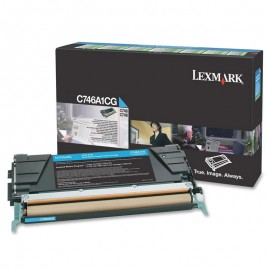 Cartouche Toner C746A1CG Laser Lexmark Original C746 C748 BLEU CYAN Encre