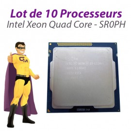 Lot x10 Processeurs CPU Intel Xeon Quad Core E3-1220V2 3.1Ghz LGA1155 SR0PH