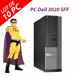 Lot x10 PC Dell 3020 SFF Intel G3220 RAM 4Go Disque Dur 250Go Windows 10 Wifi