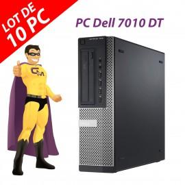 Lot 10x PC Dell OptiPlex 7010 DT Intel G2020 RAM 4Go Disque 250Go Windows 10