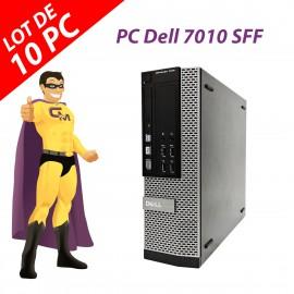 Lot x10 PC Dell OptiPlex 7010 SFF Intel G2020 RAM 4Go Disque 250Go Windows 10