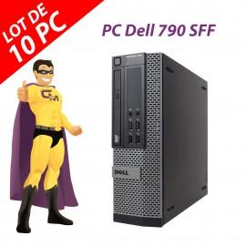 Lot x10 PC Dell OptiPlex 790 SFF Intel G630 RAM 4Go Disque 250Go Windows 10 Wifi