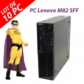 Lot x10 PC Lenovo ThinkCentre M82 SFF Intel G630 RAM 4Go Disque 250Go Windows 10