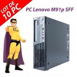 Lot x10 PC Lenovo M91p SFF Intel G630 RAM 4Go Disque Dur 250Go Windows 10 Wifi