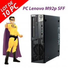 Lot x10 PC Lenovo M92p SFF Intel G630 RAM 4Go Disque Dur 250Go Windows 10 Wifi