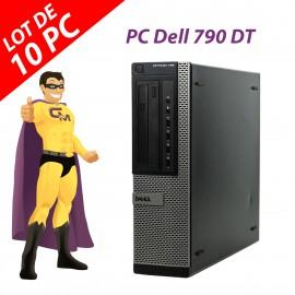 Lot x10 PC Dell OptiPlex 790 DT Intel G630 RAM 4Go Disque 250Go Windows 10 Wifi