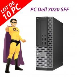 Lot x10 PC Dell OptiPlex 7020 SFF Intel G3220 RAM 4Go Disque 250Go Windows 10