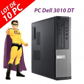Lot x10 PC Dell 3010 DT G2020 RAM 4Go Disque Dur 250Go HDMI Windows 10 Wifi