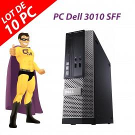 Lot x10 PC Dell 3010 SFF Intel G2020 RAM 4Go Disque 250Go HDMI Windows 10 Wifi
