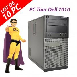Lot 10x PC Tour Dell OptiPlex 7010 Intel G2020 RAM 4Go Disque 250Go Windows 10