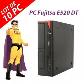 Lot x10 PC Fujitsu Esprimo E520 DT Intel G3220 RAM 4Go Disque 250Go Windows 10