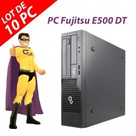 Lot x10 PC Fujitsu Esprimo E500 DT Intel G630 RAM 4Go Disque 250Go Windows 10