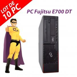 Lot x10 PC Fujitsu Esprimo E700 DT Intel G630 RAM 4Go Disque 250Go Windows 10