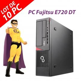 Lot x10 PC Fujitsu Esprimo E720 DT Intel G3220 RAM 4Go Disque 250Go Windows 10