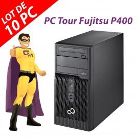 Lot x10 PC Tour Fujitsu Esprimo P400 Intel G630 RAM 4Go Disque 250Go Windows 10