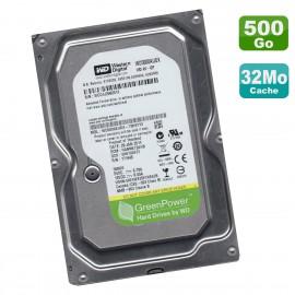 "Disque Dur 500Go SATA 3.5"" WD GreenPower WD5000AUDX-73H9TY0 5400RPM 32Mo"