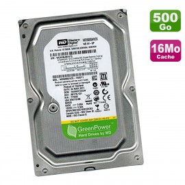 """Disque Dur 500Go SATA II 3.5"""" WD GreenPower WD5000AVCS-732DY1 6Gbps 16Mo"""
