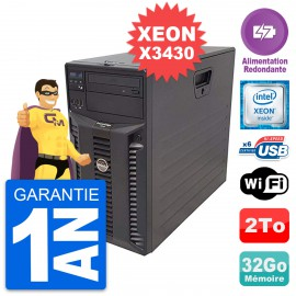 Serveur DELL PowerEdge T310 Intel X3430 RAM 32Go 2To Alimentation Redondante