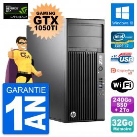 PC HP Z230 Gaming GTX 1050Ti i7-4790 RAM 32Go 240Go SSD + 2To Windows 10