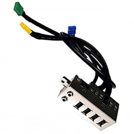 Front Panel I/O HP 628565-001 625248-001 6200 6300 8200 8300 Pro SFF 4xUSB Audio